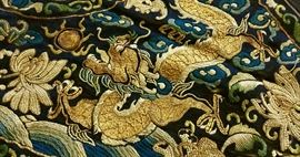Qing Dynasty Chinese Rank Dragon Collar