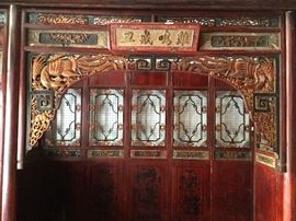 Chinese Wedding Bed Interior Entry