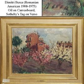 Art Berea Dimitri Oil On Canvasboard Sothebys Tag On Verso