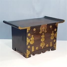 Furniture Asian Korean Altar Scroll Chest table Top