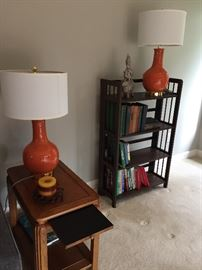 Great transitional tables, bookcase, lamps and more!