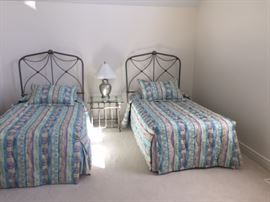 Beautiful set of twin iron beds - super solid!