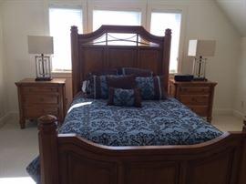 ART Furniture bedroom set with beautiful Mackinac Bridge inspired detail!