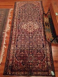 "Vintage Persian Afshar Bijar rug, measures 2 '9"" x 4' 7""."