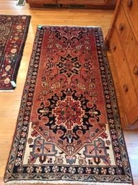"Vintage Persian Heriz runner, measures 2 '9"" x 6' 3""."