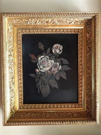 One of a pair of original oil paintings, in fabby gilt wood frames.