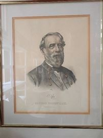 Very Southern, a nicely framed/matted version of General Robert E. Lee.