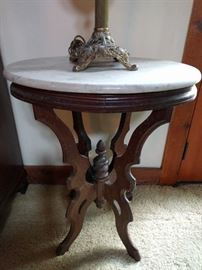 Wow, another marble topped Victorian side table.