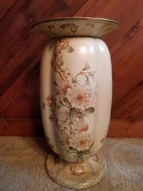 Very cool! A hand painted, vintage, porcelain plant stand, by Doulton Burslem, England.