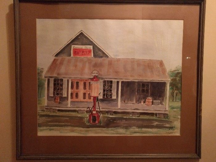 Original watercolor, by Mary Betts, 1976.