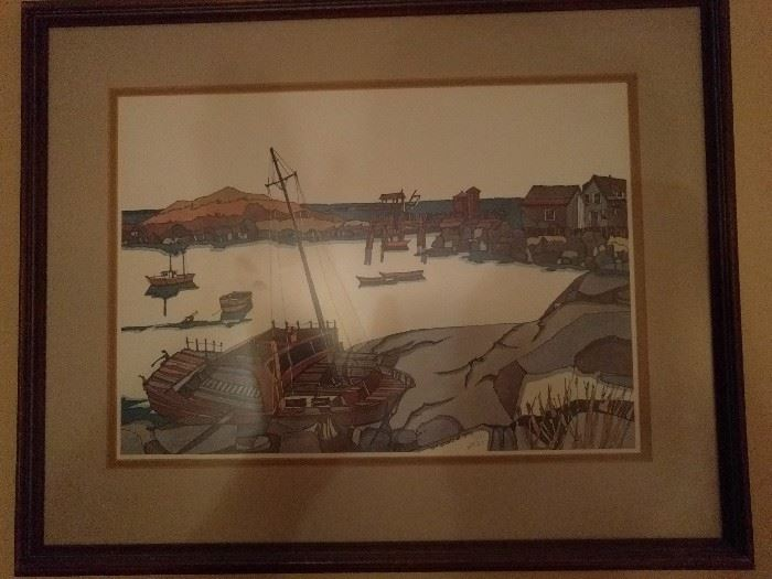 Signed lithograph by W.F. Stone, Jr. 1975, 171/1000.