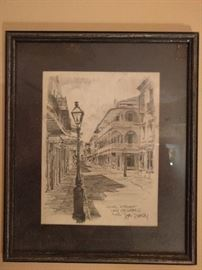 """Duval Street, ca. 1976"", lithograph by Don Darcy."