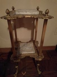 Cute Victorian brass/marble side table.