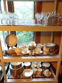 Waterford Sheila, America's Heritage & Prosperity stemware, vintage etched and cut crystal stemware.