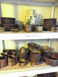 "80-Piece set of ""Roan Mountain"" Stoneware, by Nancy Peterson Lamb, made in Laurel Bloomery, TN."
