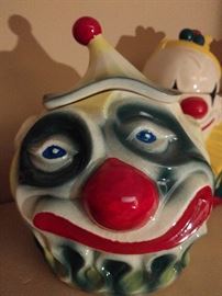 Scary clown cookie jar - the stuff of nightmares.            If you sleep walk and snack on cookies, this might deter you from future walks.