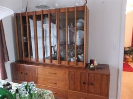 Retro china cabinet - matches dining table set