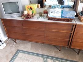 Closer view of credenza
