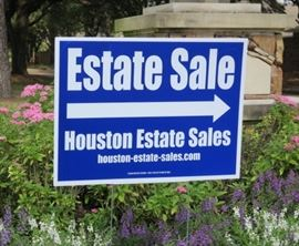 Look for the Houston Estate Sale Signs
