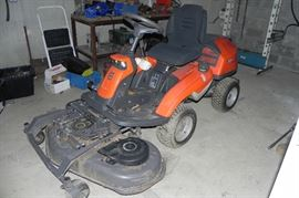 Purchased new old stock 5 months ago ! 2015 Husqvarna R 322T AWD Tractor with lawm mower and snow blower attachments !  Paid $6900.00 Take her home for $4500.00