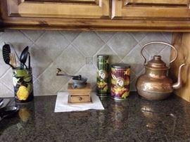Antique Copper Kettle Tea pot