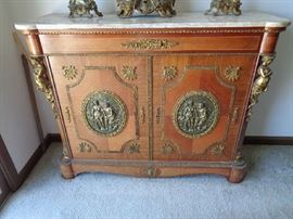 French commode w/marble top