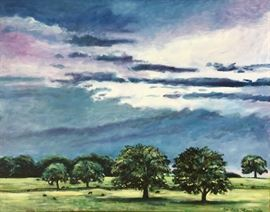 "'Across the Highway ( clouds breaking) 24"" x 30"" Oil on canvas, $650"