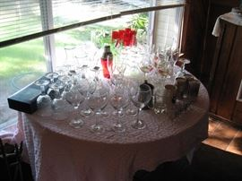 tons of vintage barware