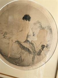 Original Hand Pencil Signed Louis Icart
