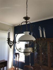 Stunning Converted Oil Lamp Chandelier
