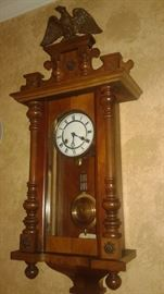 Antique 1800's wall clocks, total of  4, purchased in Germany 1970.