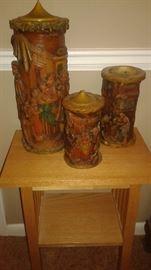 1920's hand carved Vintage  Johann Gunter Walldurn Baden Candles