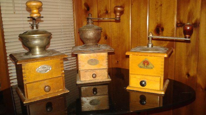vintage spice/coffee grinders