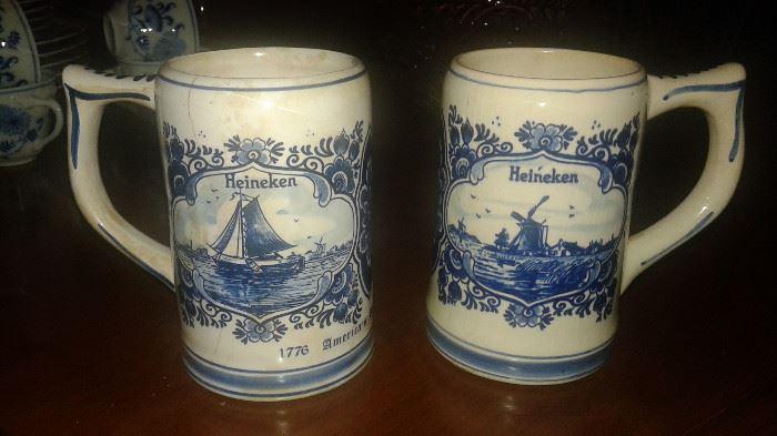 Holland beer mugs w/o the beer!!