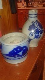 vintage Cobalt Blue Pottery