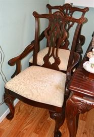 Thomasville Dining Set with Chippendale style chairs