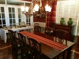 Stunning Furnishings & Decor Throughout.  Dining Room Table by Woodland Furniture out of Idaho.  Alderwood with a hard topcoat.  Hickory Chairs.