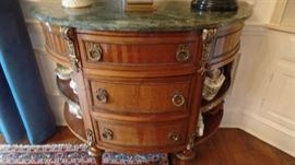 Pair of Marble Top Commodes $6,500
