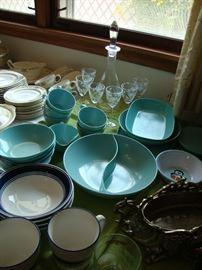 Melamine dishes including Windsor Melmac