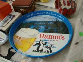 Hamm's Beer tray