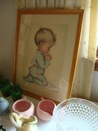 Adorable Charlotte Byj framed print: Bless Us All