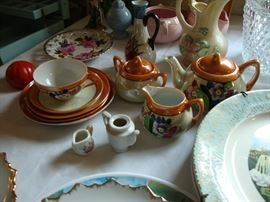 Vintage bone china and dishes