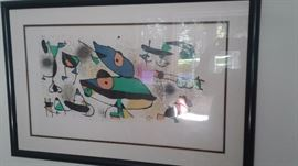 Authentic stone signed litho by Miro!