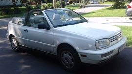 1999 Volkswagon Cabrio Convertible 2.0 liter, 4 cyl, fuel injected, 5 speed manual.  96k miles