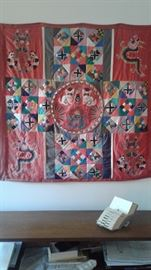 Fabulous Vintage Chinese Fabric hanging