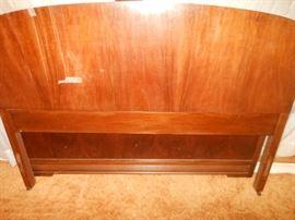 Matching veneered antique bed