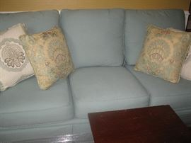 Custom sofa and pillows