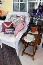 White wicker chair, we have 2