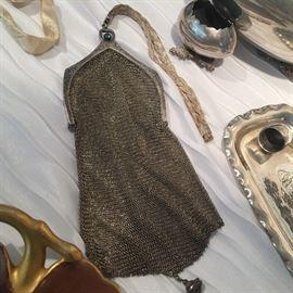 Sterling silver purse