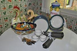 Great vintage Pfaltzgraph ceramic set, service for 4